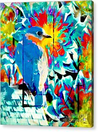 Bluebird Pop Art Acrylic Print