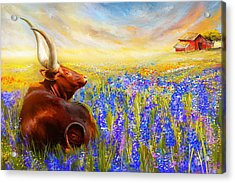 Bluebonnet Dream - Bluebonnet Paintings Acrylic Print