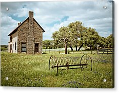 Acrylic Print featuring the photograph Bluebonnet Dreams by Linda Unger