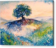Bluebonnet Hill Acrylic Print by Marcia Baldwin