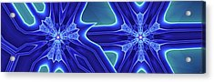 Acrylic Print featuring the digital art Blued by Ron Bissett