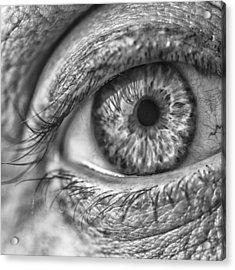 #blueeyes #blue #eyes #pupil #cornea Acrylic Print