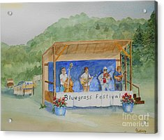 Bluegrass Festival Acrylic Print by Christine Lathrop