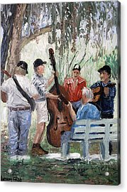 Bluegrass In The Park Acrylic Print by Anthony Falbo