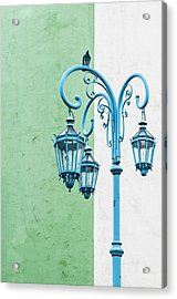 Blue,green And White Acrylic Print