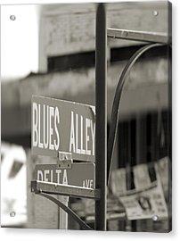 Blues Alley Street Sign Acrylic Print