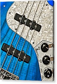 Acrylic Print featuring the photograph Blues Bass by William Jobes