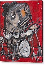 Blues Cat Drums Acrylic Print
