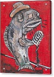 Blues Cat Singer Acrylic Print