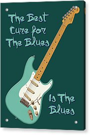 Blues Cure Seafoam Acrylic Print