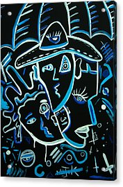Blues Face Acrylic Print by Kenal Louis