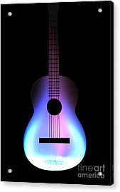 Blues Guitar On Fire Acrylic Print by Andy Smy