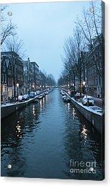 Blues In Amsterdam Acrylic Print by Carol Groenen