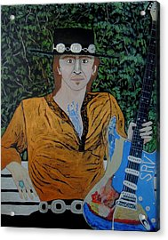 Blues In The Park With Srv. Acrylic Print
