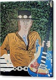 Blues In The Park With Stevie Ray Vaughan. Acrylic Print