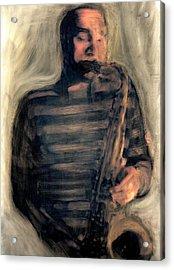Blues Man Acrylic Print