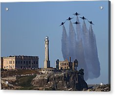 Acrylic Print featuring the photograph Blues Over Alcatraz by John King
