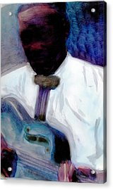 Acrylic Print featuring the painting Blues Pickin by FeatherStone Studio Julie A Miller