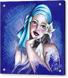Blues Acrylic Print by Scarlett Royal