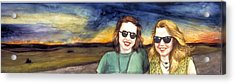 Blues Sisters Acrylic Print by Nancy  Ethiel