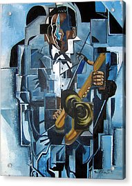 Blues Trane Acrylic Print by Martel Chapman