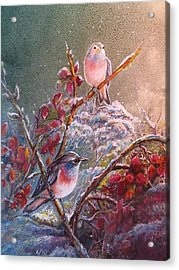 Bluethroat On The Tundra/ #3 Acrylic Print