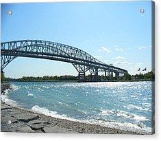 Bluewater Bridges Acrylic Print