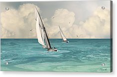 Bluewater Cruising Sailboats Acrylic Print