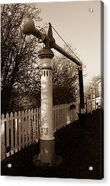 Blunsdon Station At Swindon And Cricklade Railway Acrylic Print by Steven Sexton