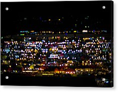 Blurred City Lights  Acrylic Print by Jingjits Photography