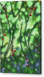 Acrylic Print featuring the digital art Blurred Lines 01 - Floral Inclinations by Joe Burgess