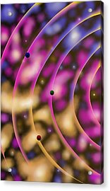 Acrylic Print featuring the digital art Blurred Lines 02 - Nebulaic Vibrations by Joe Burgess