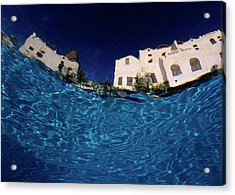 Blurred View Of A Hotel From Underwater Acrylic Print by Sami Sarkis