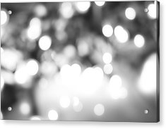 Blurry Abstract Acrylic Print by Les Cunliffe