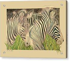 Blushing Stripes Acrylic Print
