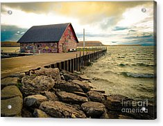 Blustery Day At Anderson Barn Acrylic Print
