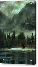 Blustery Yosemite Acrylic Print