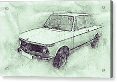 Bmw 02 Series 3 - Ececutive Car - 1966 - Automotive Art - Car Posters Acrylic Print