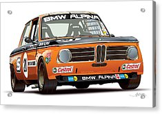 Bmw 2002 Alpina Illustration Acrylic Print