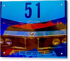 Bmw Racing Colors Acrylic Print