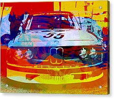 Bmw Racing Acrylic Print by Naxart Studio