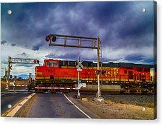 Bnsf 7682 Crossing Acrylic Print