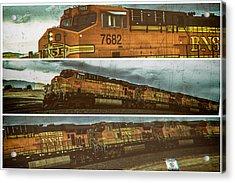Bnsf 7682 Triptych  Acrylic Print