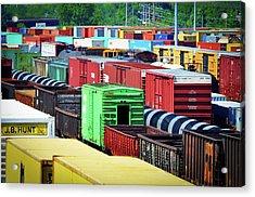 Bnsf Lindenwood Yard Acrylic Print