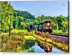 Bnsf Scenic Freight Train Acrylic Print