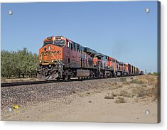 Acrylic Print featuring the photograph Bnsf7890 by Jim Thompson