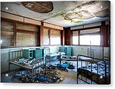 Boarding School Nightmare - Abandoned Building Acrylic Print by Dirk Ercken