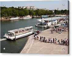 Boarding The Bateaux Mouches Acrylic Print by Andy Smy