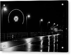 Boardwalk Amusement At Night Acrylic Print