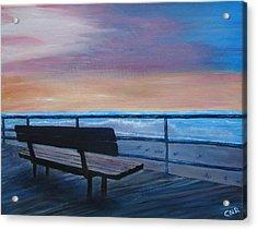 Boardwalk At Sunrise Acrylic Print